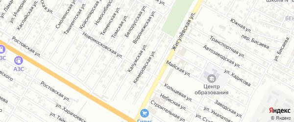 Кемеровская улица на карте Гудермеса с номерами домов