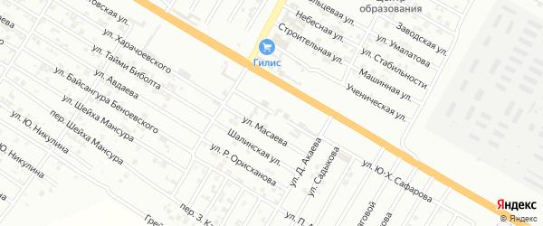 Улица С.Альбекова на карте Гудермеса с номерами домов