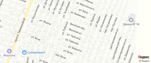 Веселая улица на карте Гудермеса с номерами домов