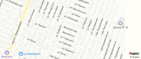 Веселый переулок на карте Гудермеса с номерами домов
