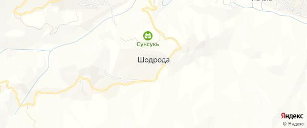 Карта села Шодроды в Дагестане с улицами и номерами домов