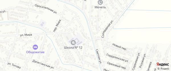 Первомайский переулок на карте Гудермеса с номерами домов