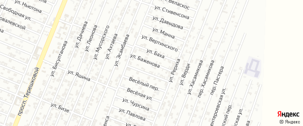 Улица Баженова на карте Гудермеса с номерами домов