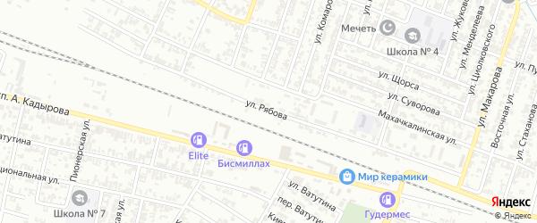 Улица Рябова на карте Гудермеса с номерами домов