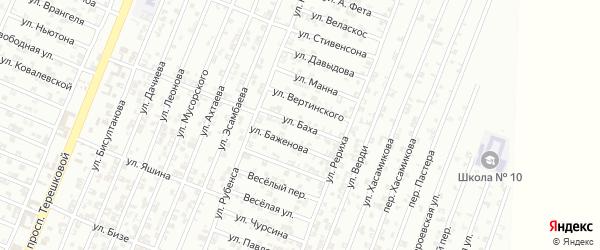 Улица Баха на карте Гудермеса с номерами домов