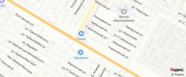 Ученический переулок на карте Гудермеса с номерами домов