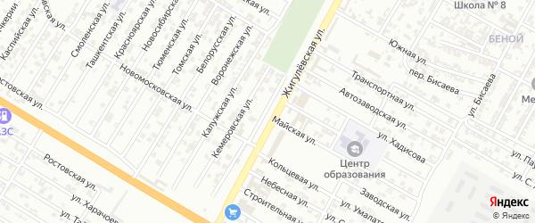 Ленинградская улица на карте Гудермеса с номерами домов