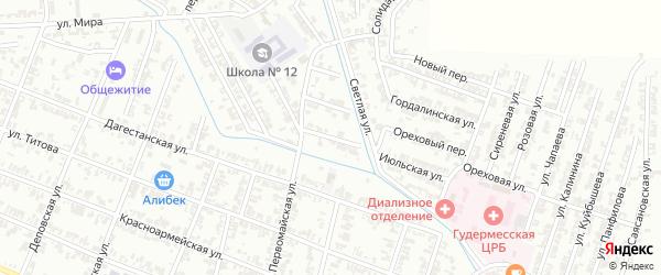 Нефтяная улица на карте села Илсхан-Юрт с номерами домов