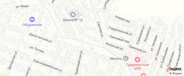 Нефтяная улица на карте села Нижний-Нойбер с номерами домов
