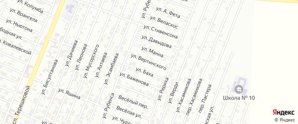 Улица Вертинского на карте Гудермеса с номерами домов