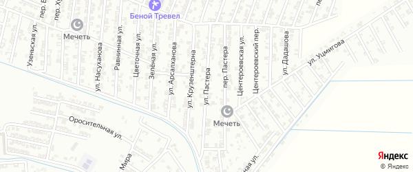 Улица Пастера на карте Гудермеса с номерами домов