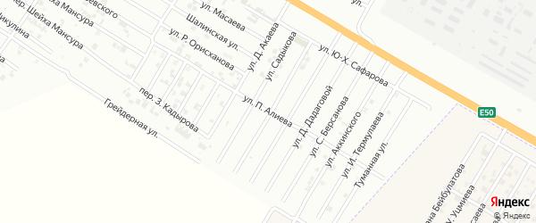 Улица П.Алиева на карте Гудермеса с номерами домов