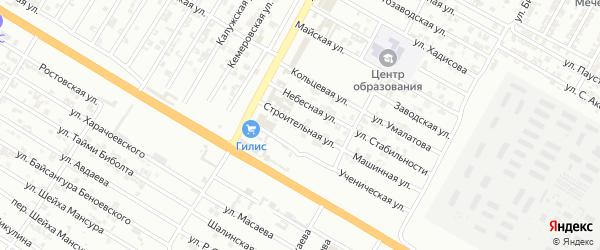 Строительная улица на карте Гудермеса с номерами домов