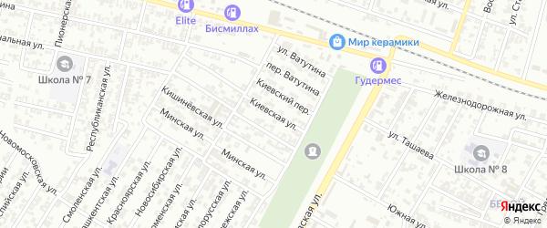 Киевская улица на карте Гудермеса с номерами домов
