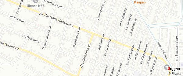 Дербентская улица на карте Гудермеса с номерами домов