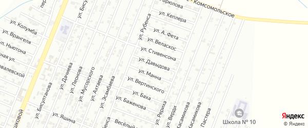 Улица Давыдова на карте Гудермеса с номерами домов