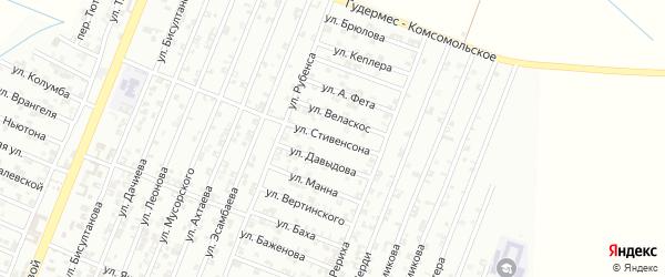 Улица Стивенсона на карте Гудермеса с номерами домов