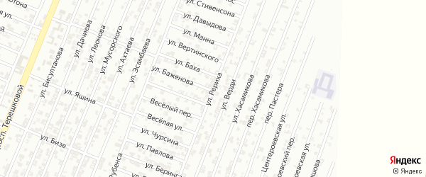 Улица Рериха на карте Гудермеса с номерами домов