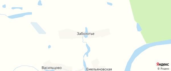 Карта деревни Заболотья в Архангельской области с улицами и номерами домов