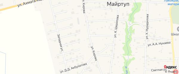 Улица Кирова на карте села Цоци-Юрт с номерами домов