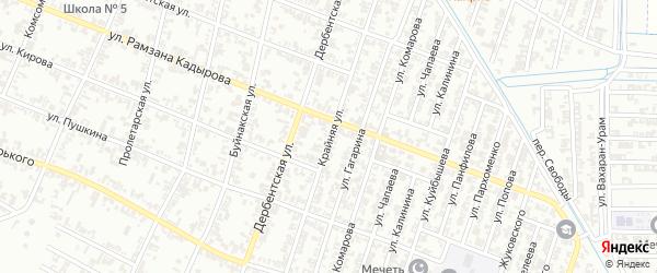 Крайняя улица на карте села Нижний-Нойбер с номерами домов