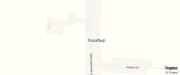 Центральная улица на карте деревни Хорабыр с номерами домов