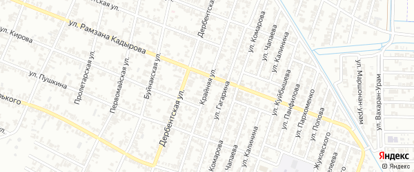 Крайняя улица на карте села Бильтой-юрт с номерами домов