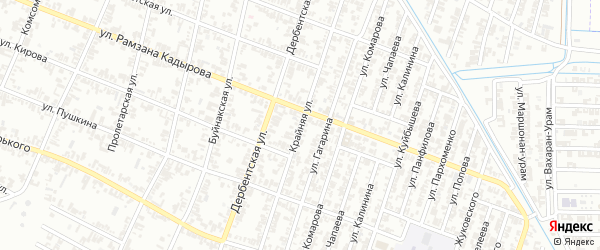 Крайняя улица на карте Гудермеса с номерами домов