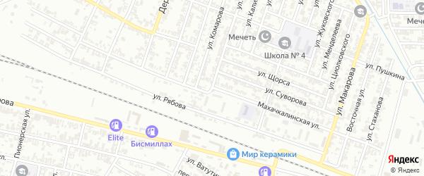 Махачкалинская улица на карте Гудермеса с номерами домов