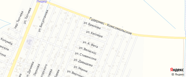 Переулок Кеплера на карте Гудермеса с номерами домов