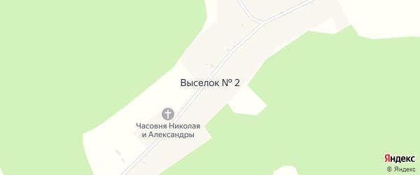 Улица Братьев Таланцевых на карте деревни Выселка N2 с номерами домов