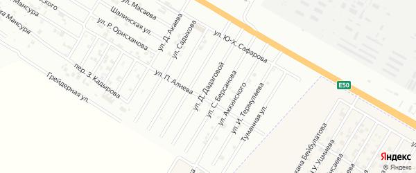 Улица Д.Дадаговой на карте Гудермеса с номерами домов