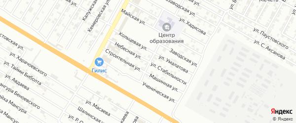 Небесная улица на карте Гудермеса с номерами домов