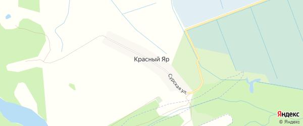 Карта деревни Красного Яра в Чувашии с улицами и номерами домов