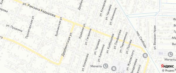 Улица Гагарина на карте Гудермеса с номерами домов