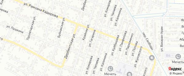 Улица Гагарина на карте села Хангиш-юрт с номерами домов