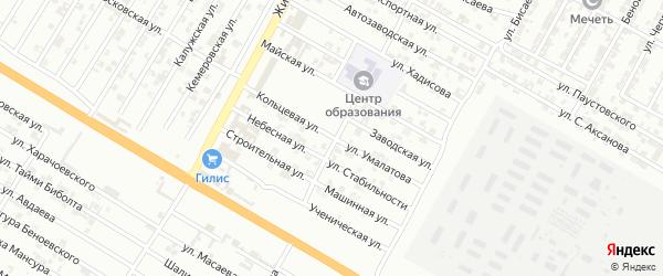Кольцевая улица на карте Гудермеса с номерами домов