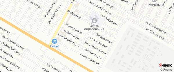 Улица Дружбы на карте Гудермеса с номерами домов
