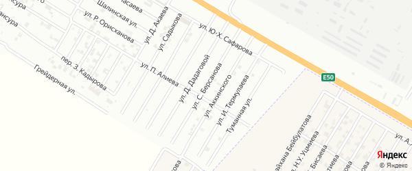 Улица С.Берсанова на карте Гудермеса с номерами домов