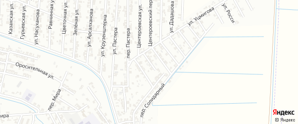 Улица Фаворского на карте Гудермеса с номерами домов
