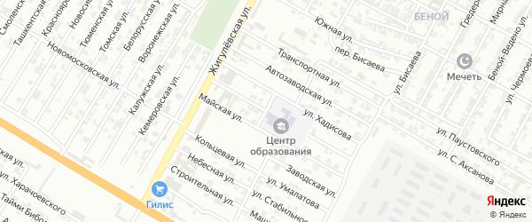 Августовская улица на карте Гудермеса с номерами домов