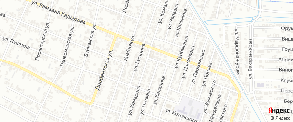Улица Комарова на карте Гудермеса с номерами домов