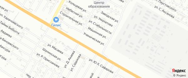 Ученическая улица на карте Гудермеса с номерами домов