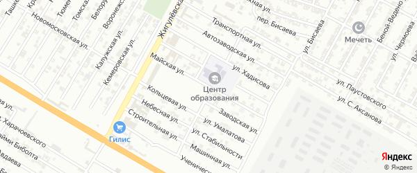 Майская улица на карте Гудермеса с номерами домов