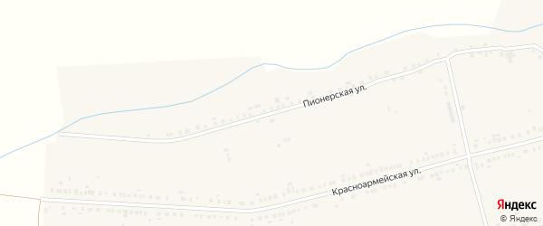 Пионерская улица на карте села Красные Четаи с номерами домов