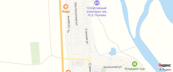 Степная улица на карте села Соленого Займища с номерами домов
