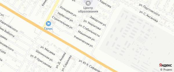 Машинная улица на карте Гудермеса с номерами домов
