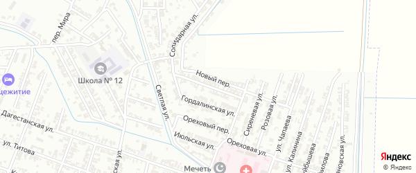 Солидарная улица на карте Гудермеса с номерами домов