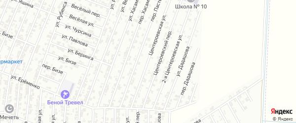 Центероевская улица на карте Гудермеса с номерами домов