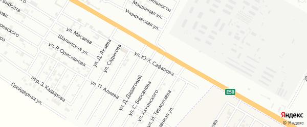 Улица Ю-Х.Сафарова на карте Гудермеса с номерами домов